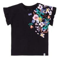 T-Shirt Volant Fleur 7-10
