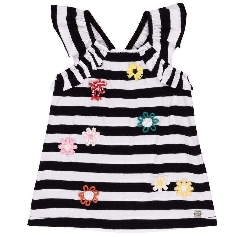 Flower Striped T-Shirt 7-10