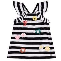 T-Shirt Rayé Fleur 7-10