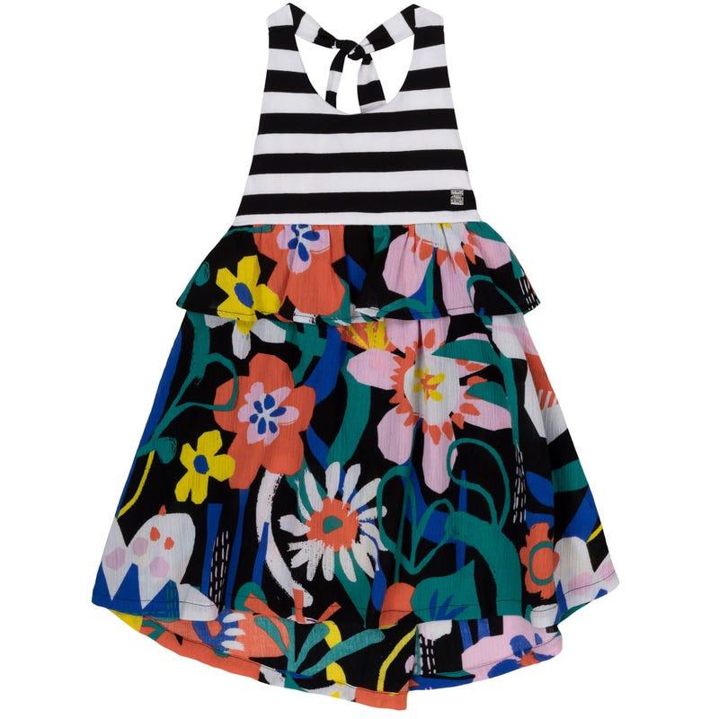 Flower Frill Dress 3-6