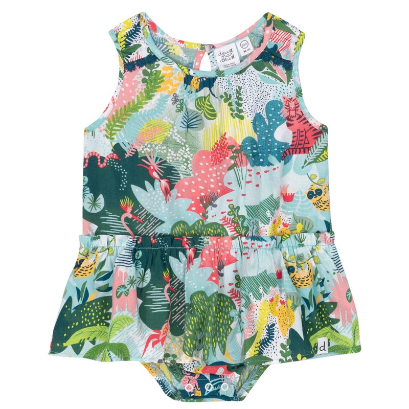 Jungle Frill Romper 6-24m