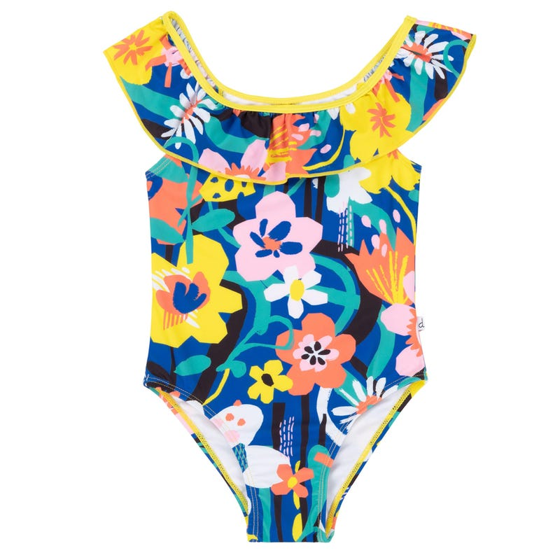 Flower UV Swimsuit 2-6