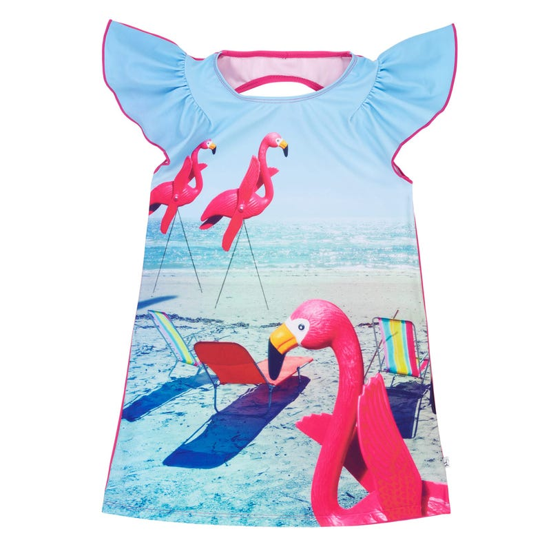 Flamingo Beach Dress 7-12