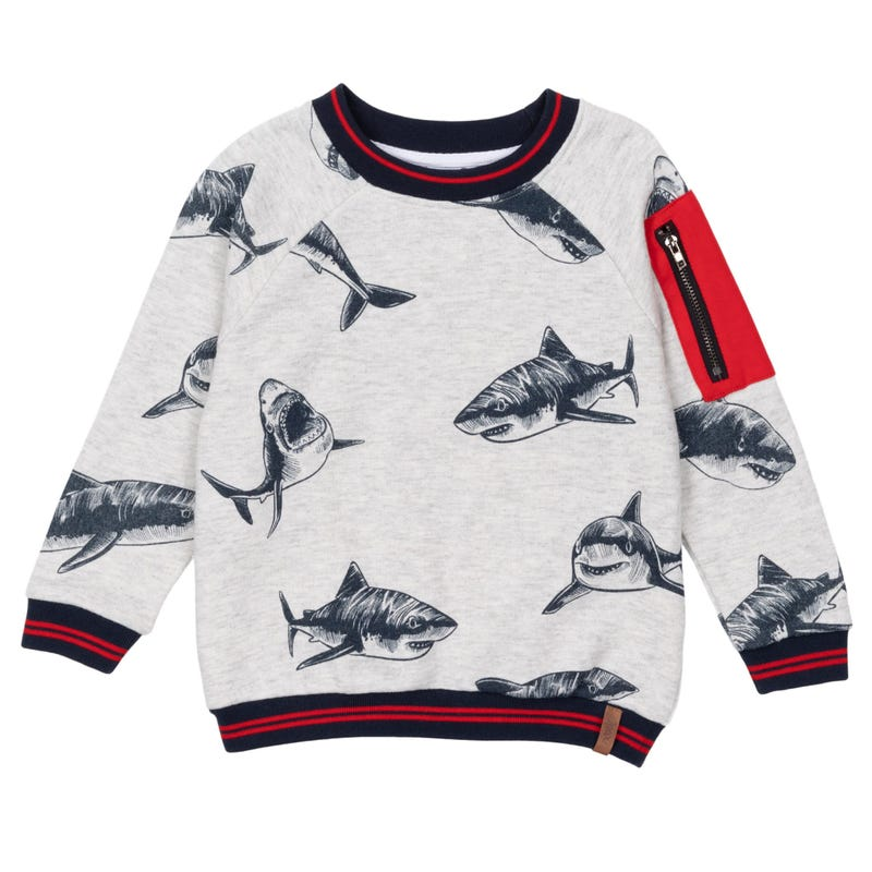 Shark Sweatshirt 3-6