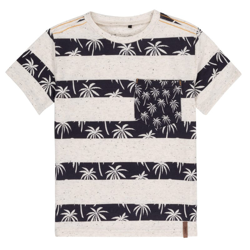 Striped Palm Tree T-Shirt 3-6