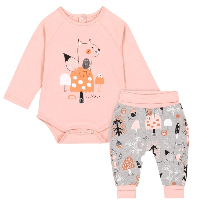 Forest Printed Pant Set 6-24m
