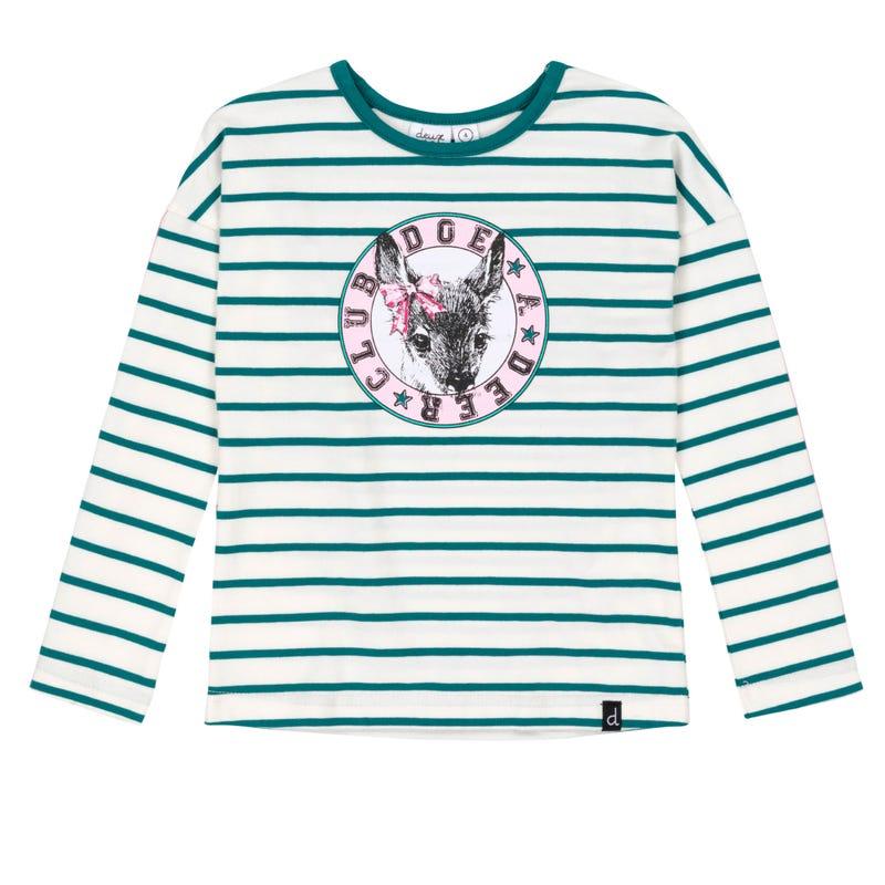 T-Shirt Rayé Biche 3-6ans