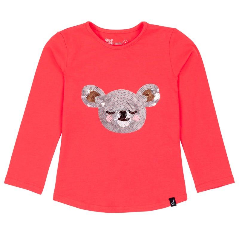 T-Shirt Paillettes Koala 7-10ans