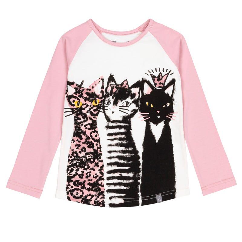 T-Shirt Raglan Chatmouflage 7-10ans
