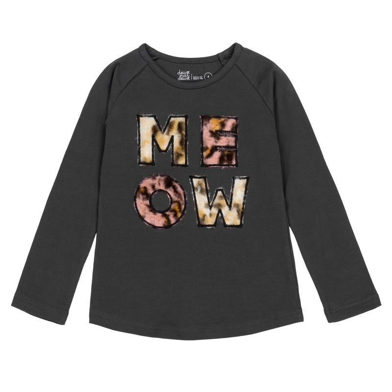 T-Shirt Meow Chatmouflage 7-10ans