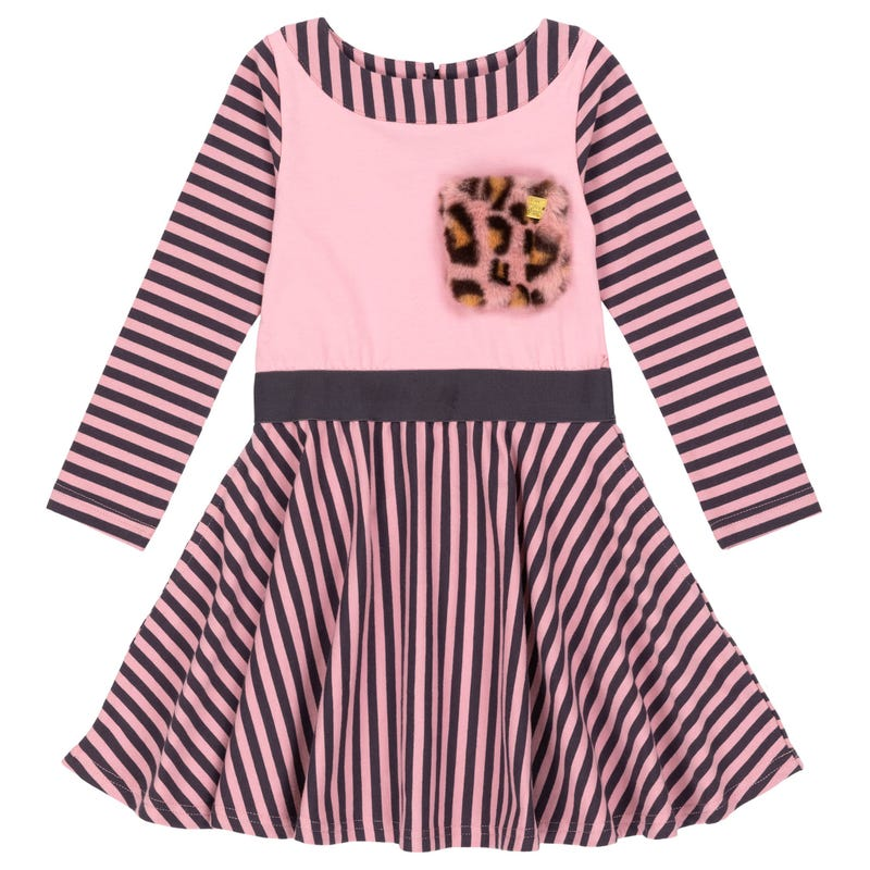 Catmouflage Striped Dress 3-6