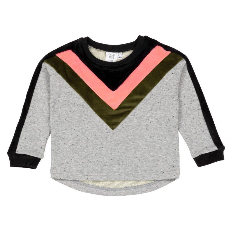 Cheetah Velvet Sweatshirt 3-6