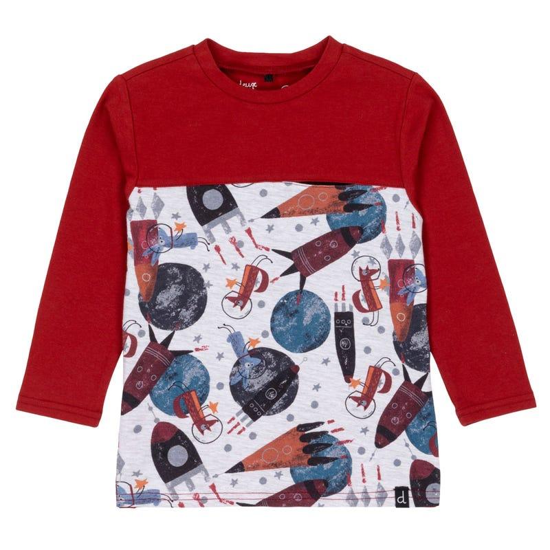 T-Shirt Planètes Lune 12-24m