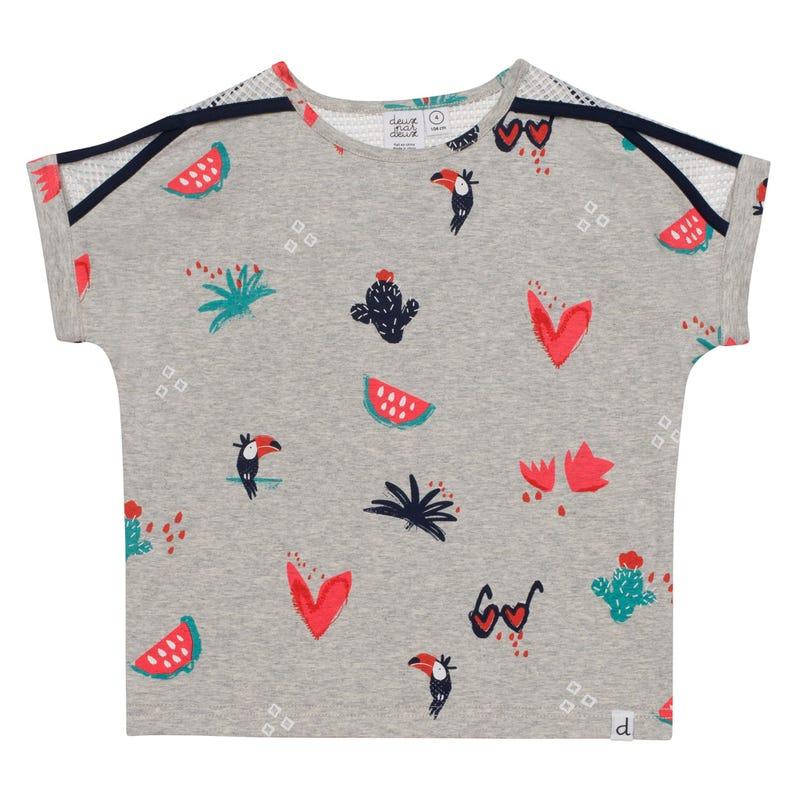 T-Shirt Imprimé Toucan 7-10ans