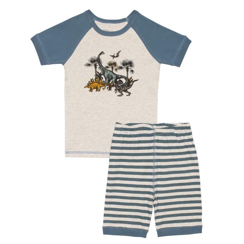 Dino Short Pajamas 3-6y