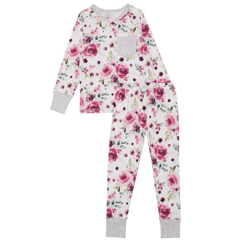Flowers Pajamas 3-6y