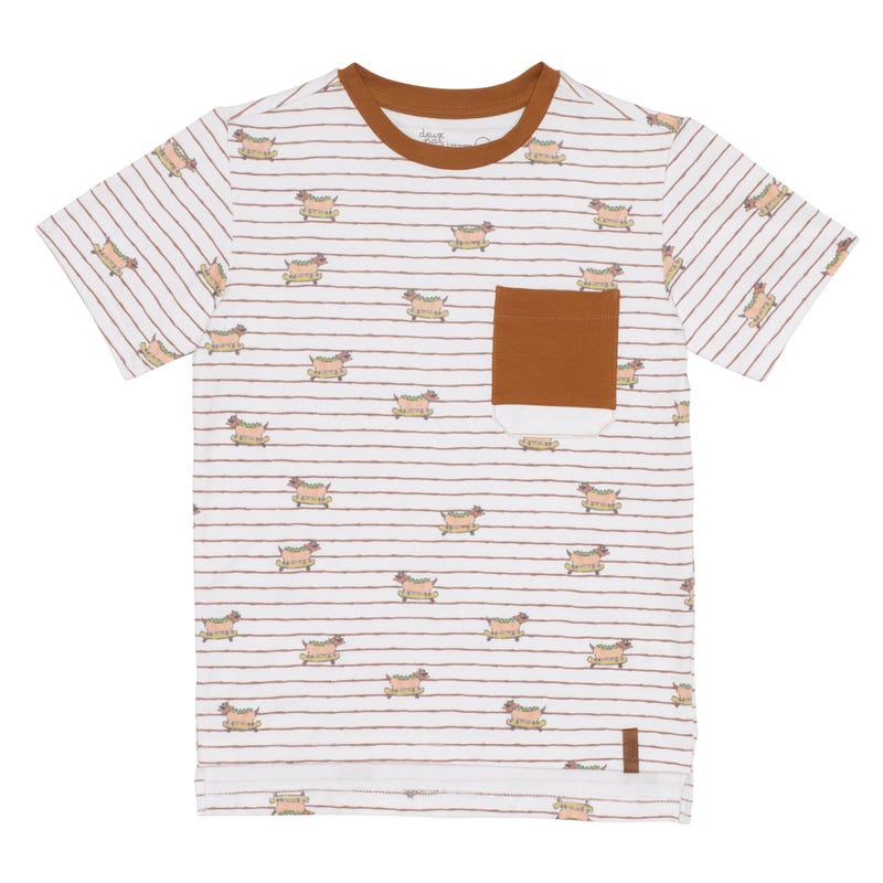 T-Shirt Poche Chien 3-6ans