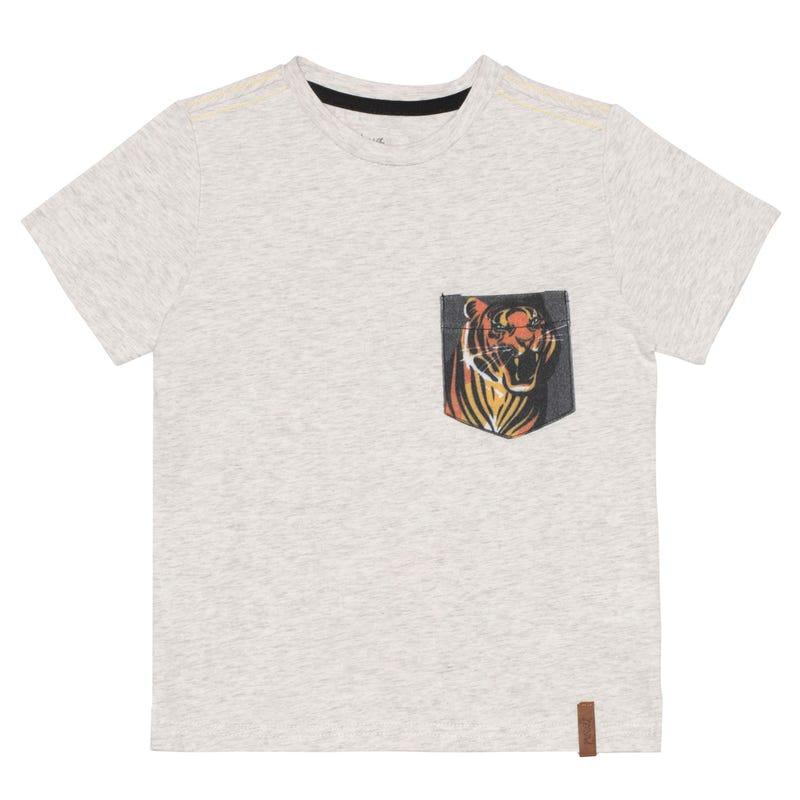 T-Shirt Poche Tigre 3-6ans