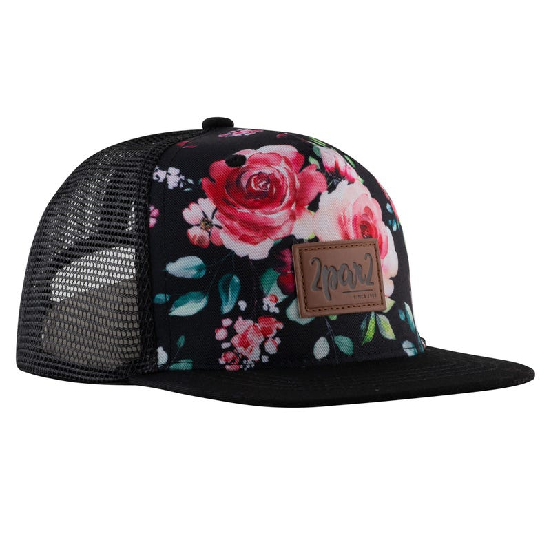 Flowers Printed Cap 3-12y