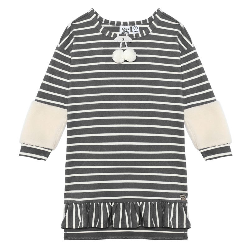 Duck Duck Striped Dress 3-6y