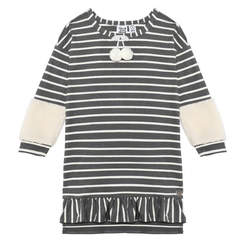 Duck Duck Striped Dress 7-10y
