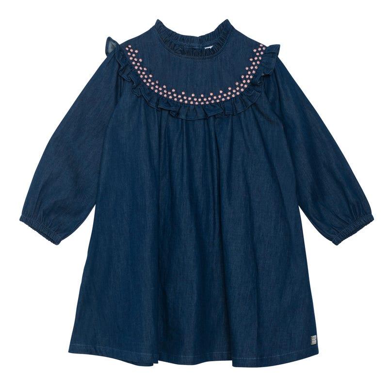 Denim Frill Dress 7-10y