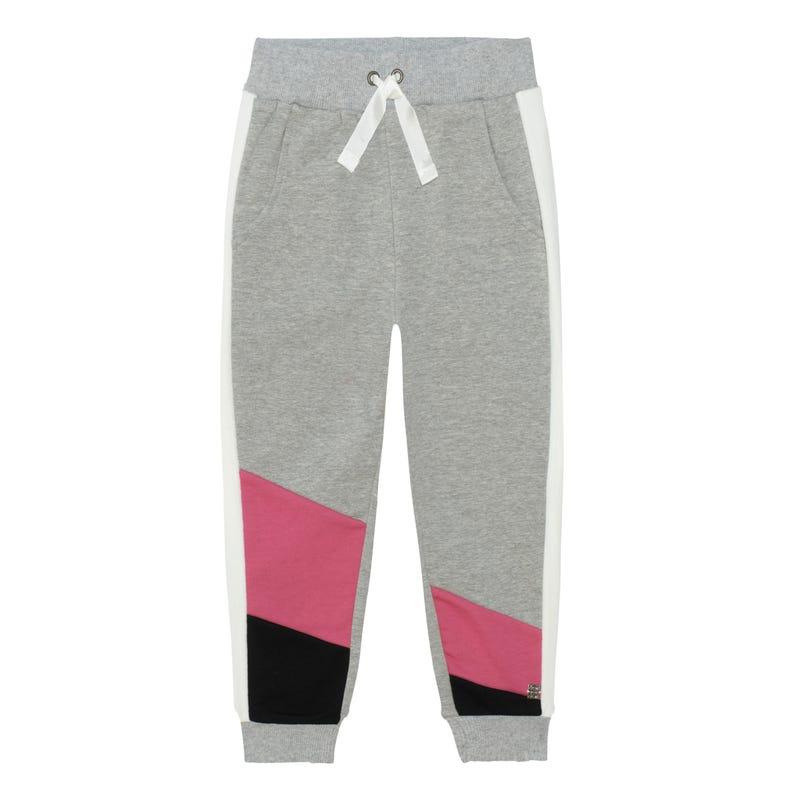 Pantalon Ouaté Colorblock Star7-10ans