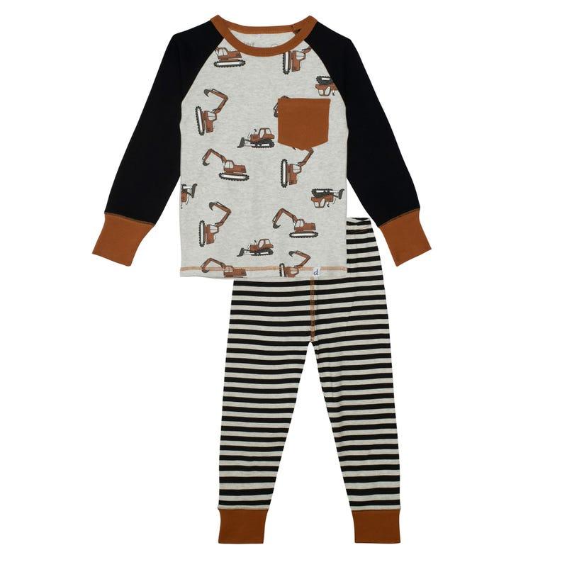 Pyjama Bulldozer 7-10ans