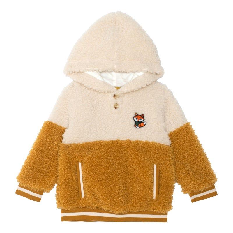 Fox Sherpa Hoodie 4-6y