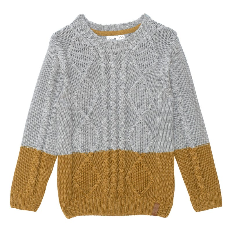 Colorblock Knit Sweater 3-6y