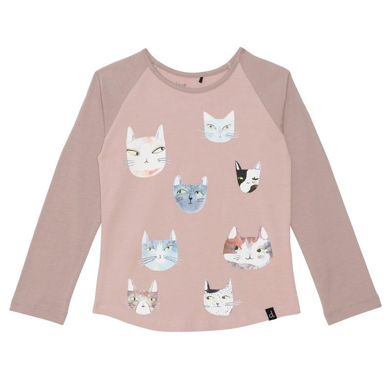 Cat Raglan T-shirt 3-6y