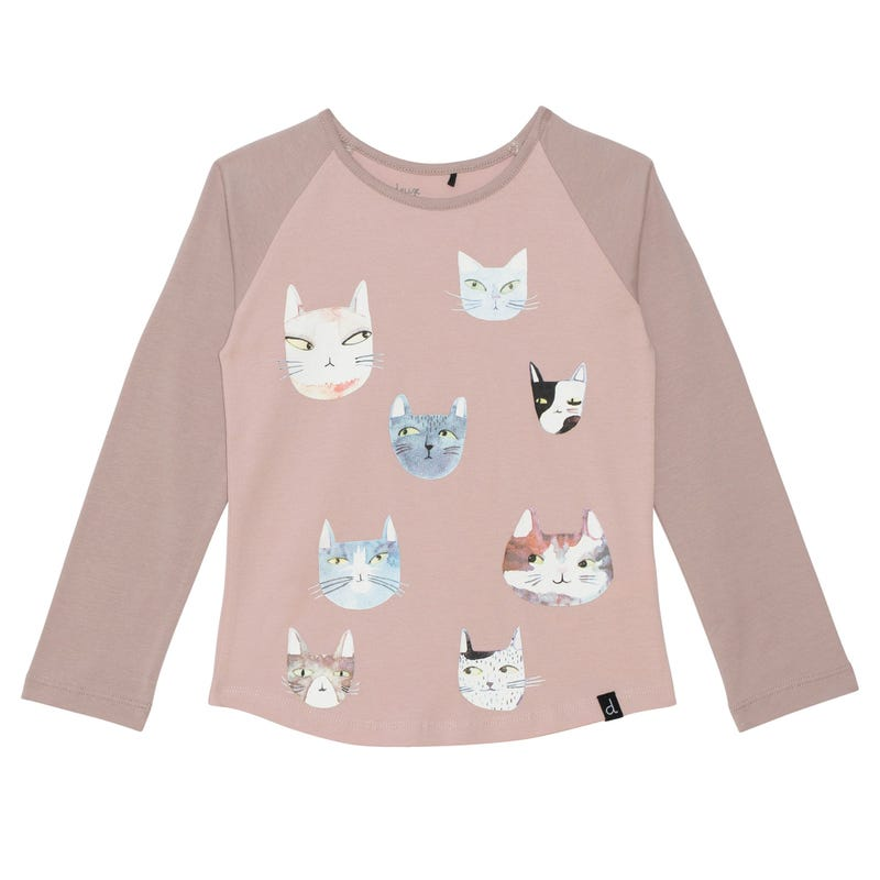 Cat Raglan T-shirt 7-10y