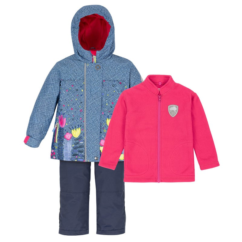 Girl 3 in1 Outerwear Set 2-6y