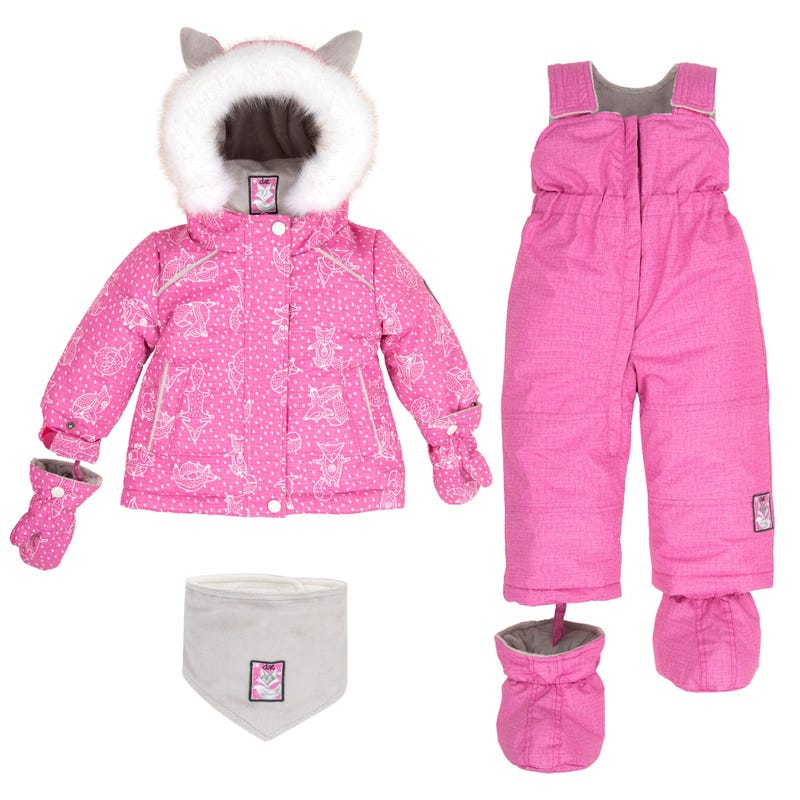 Pink Yoga 2pcs Snowsuit 18-30m