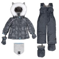 Grey Yoga 2pcs Snowsuit 18-30m