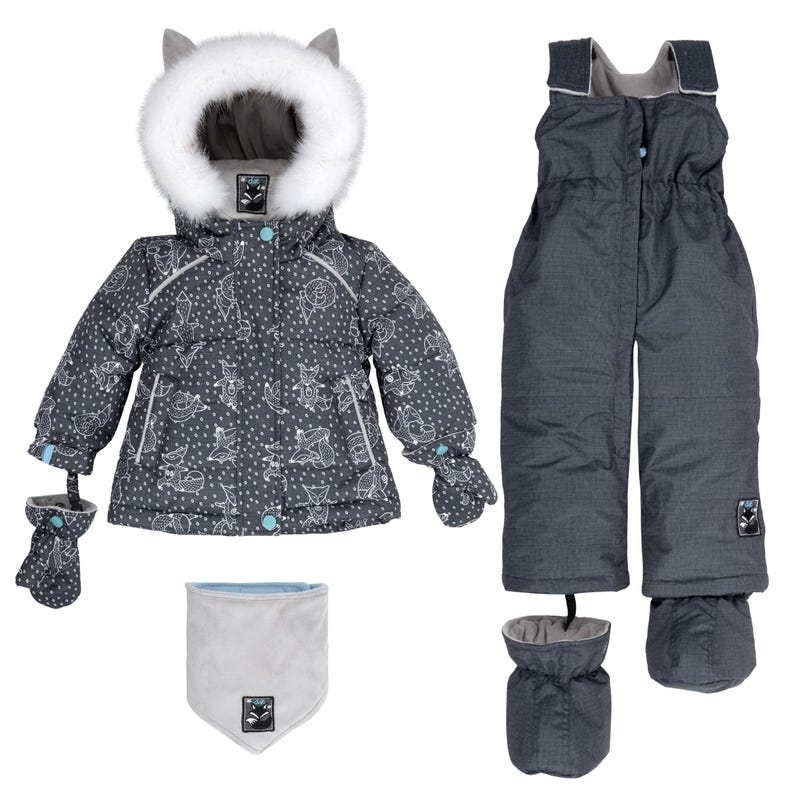 Grey Yoga 2pcs Snowsuit 18-30m
