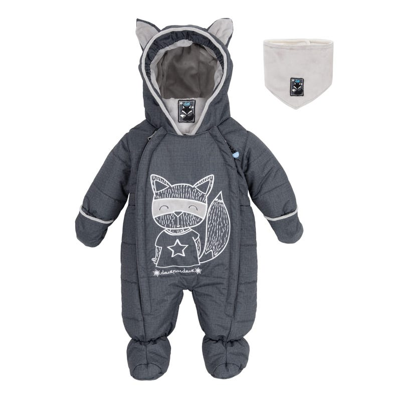 Grey Yoga Snowsuit 3-18m