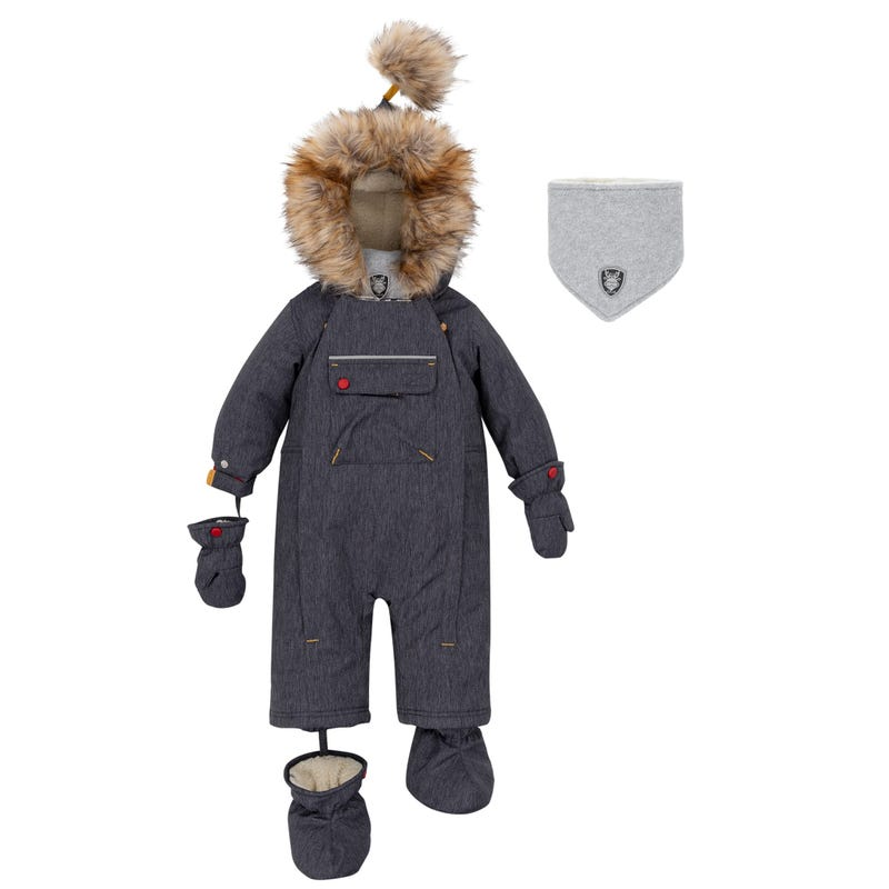 Denim Dino Snowsuit 12-30m