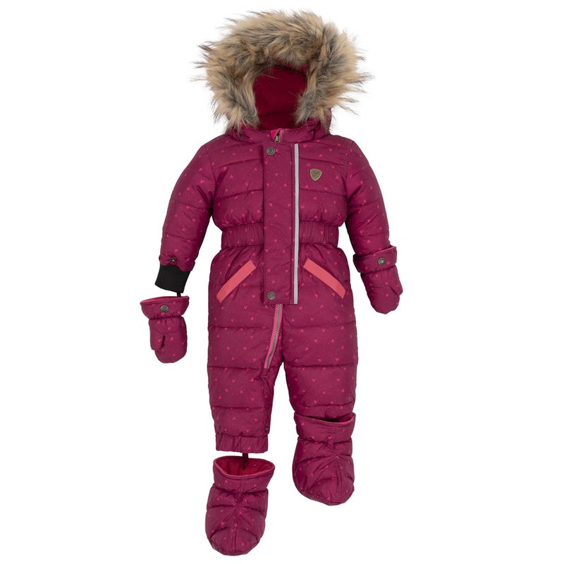 Heart Puffy Snowsuit 12-30m