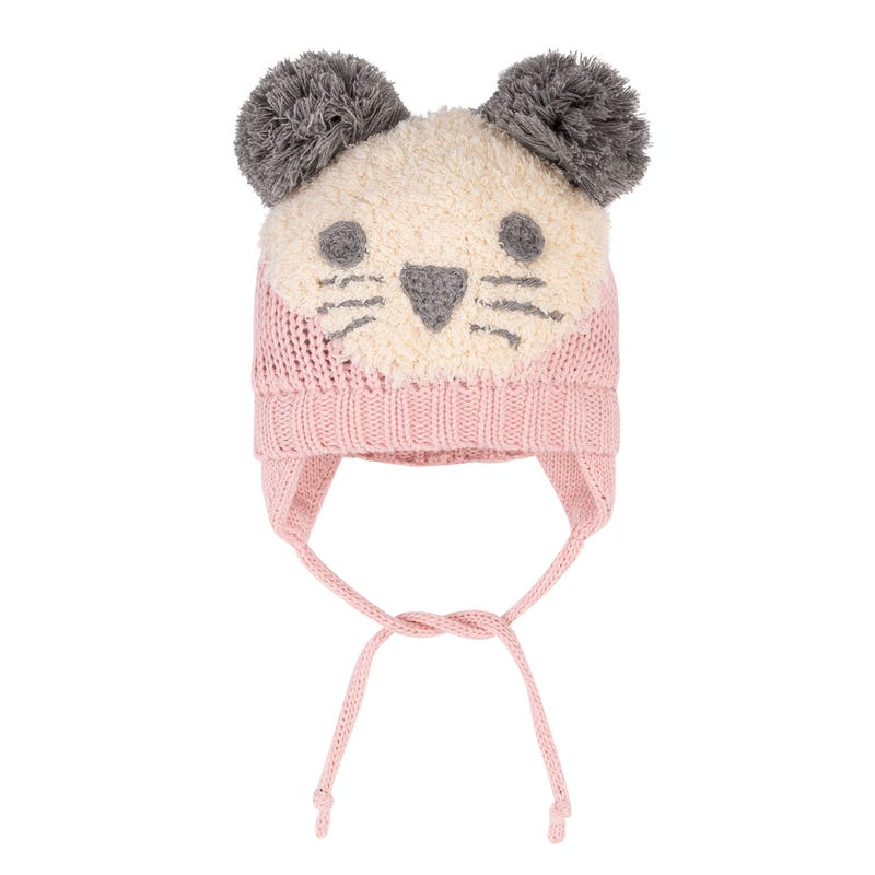 Tuque Ourson Rose 3-36m
