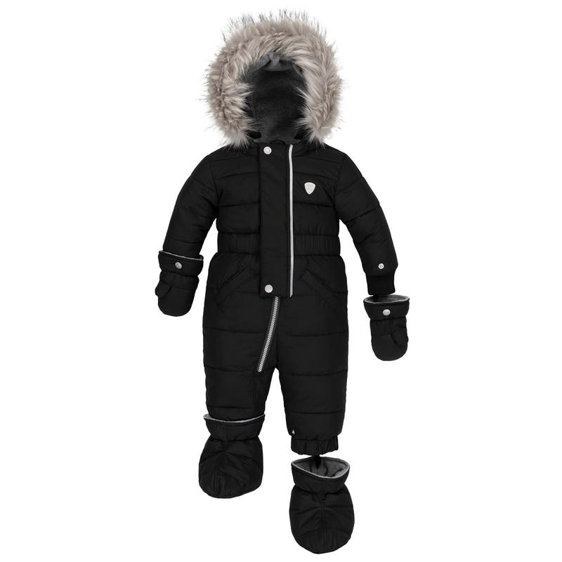 Black Puffy Snowsuit 6-30m