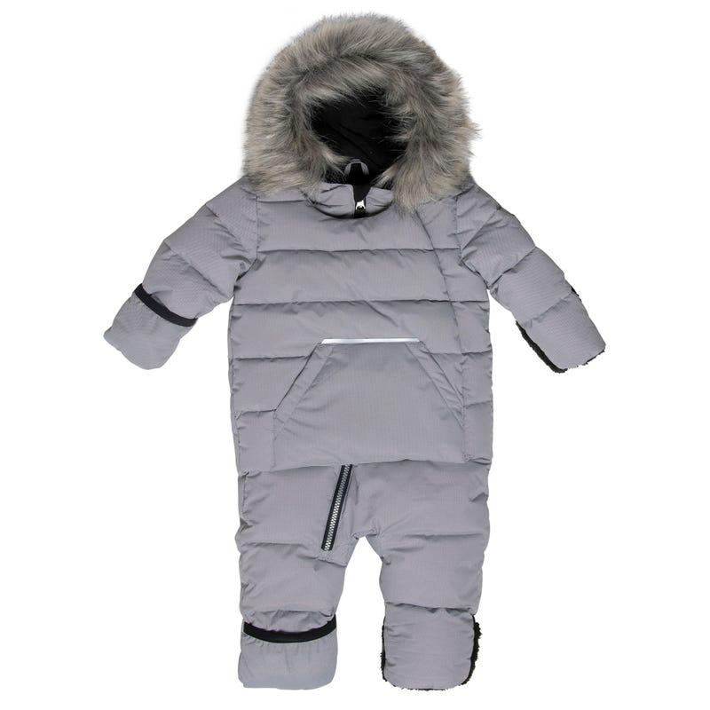 Grey 2.0 Puffy Snowsuit 6-24m