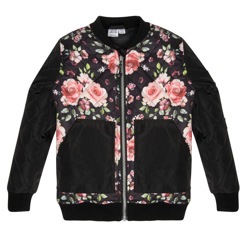 Manteau Bomber Roses 3-6ans