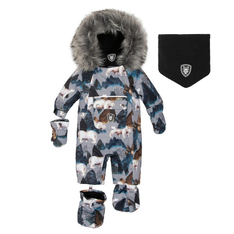 Bears Snowsuit 6-30m