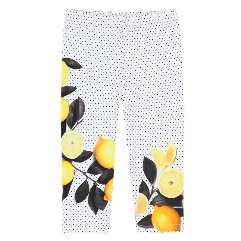 Legging Capri Citron 3-6ans
