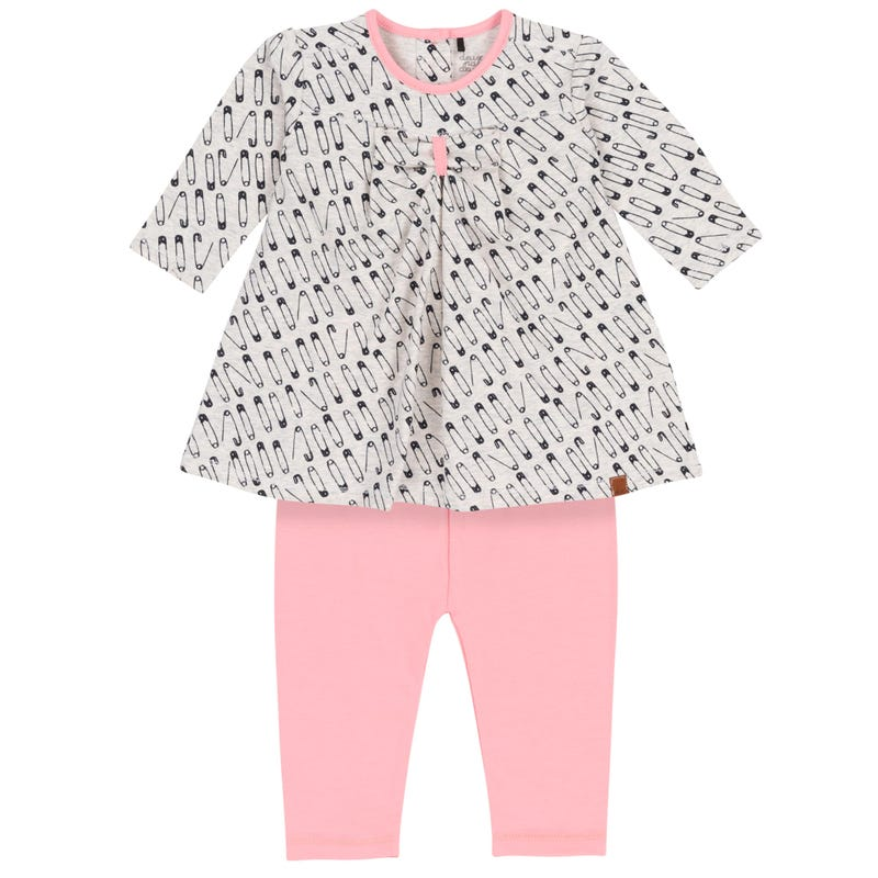 Baby Pin 2pcs Dress Set 12-24m