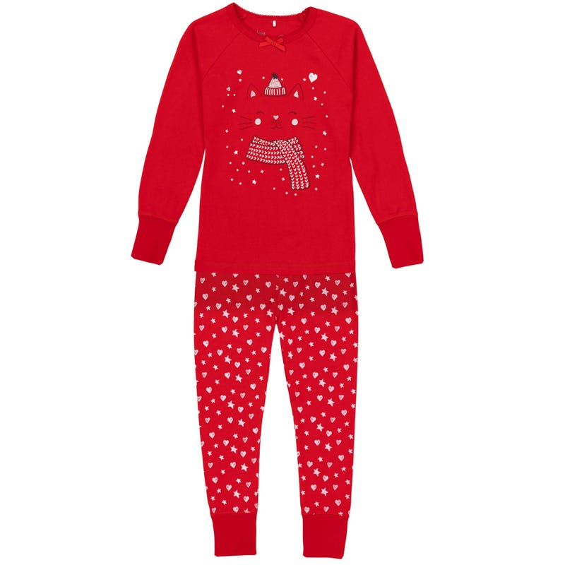 Winter Cat pajamas Set 3-10y