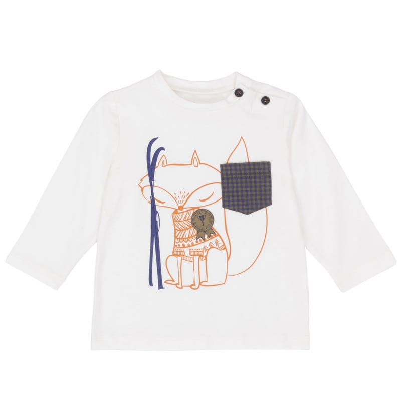 T-Shirt à Manches Longues Renard 12-24mois