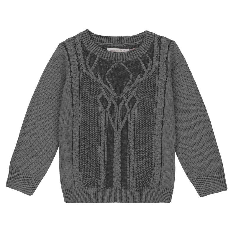 Little Man Deer Sweater 3-6y