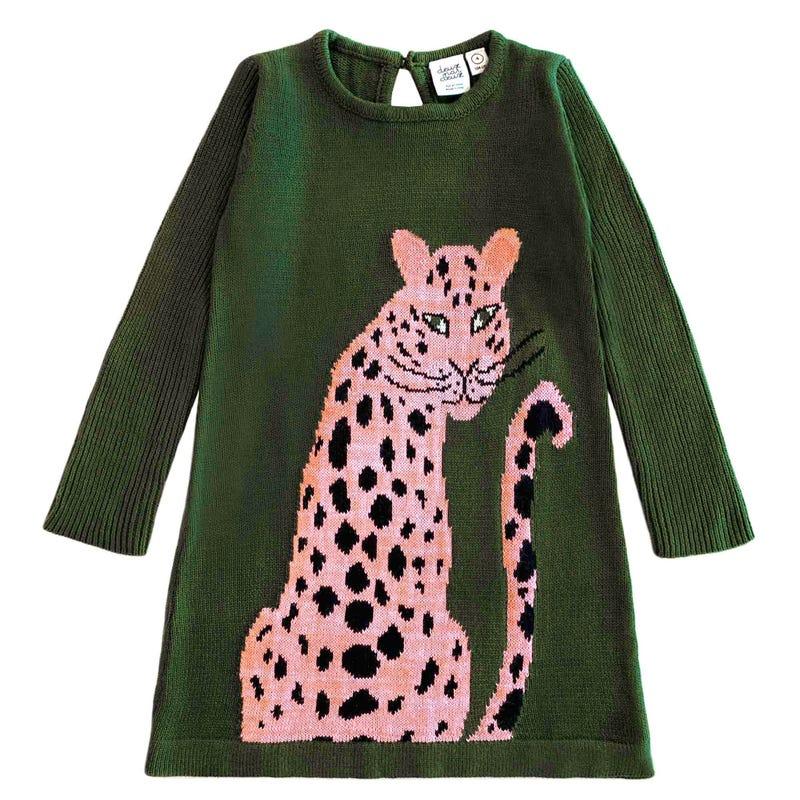 Cheetah Sweater Dress 7-10